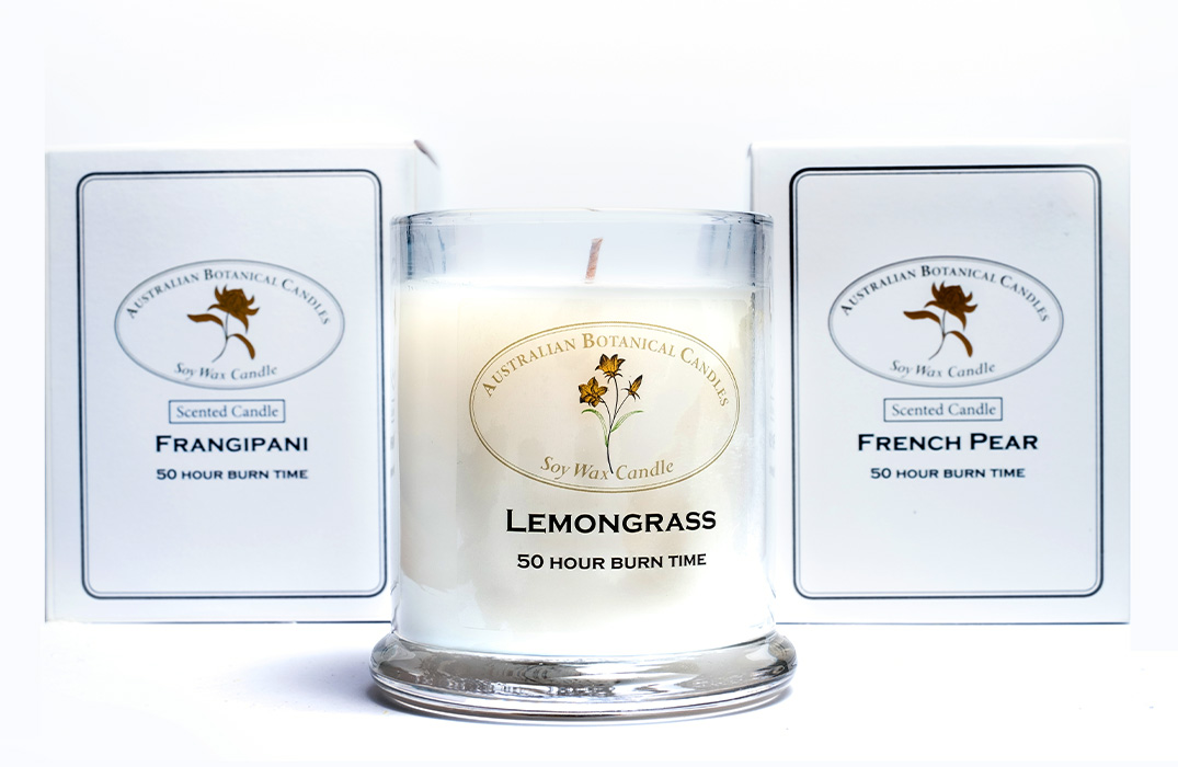 Lemongrass and Lemon Myrtle Soy Wax Scented Candle